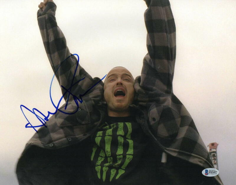 AARON PAUL BREAKING BAD SIGNED 11X14 PHOTO AUTHENTIC AUTOGRAPH BECKETT COA