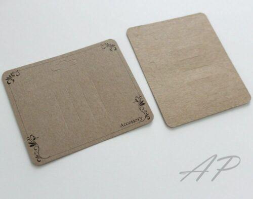 Wholesale..600pc  Scroll Imprint Hair Clip Display Card  in Kraft Paper
