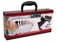 Watercolor Painting Set. Royal and Langnickel Watercolour Wooden Box Set + Painting Pads (gift)