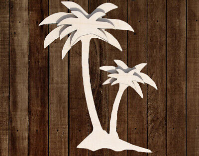 PALM TREE Unfinished Wood Cutout Crafts Door Hanger Paintable Wreath Beach Sea](Tree Cutouts)