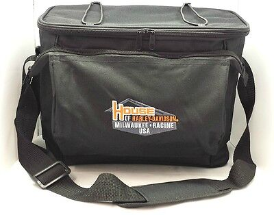 House of Harley-Davidson® 12-Pack Insulated Travel Cooler Black Bag CLPCUS03