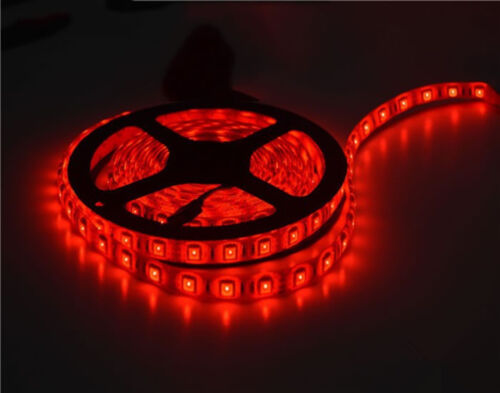 Boat Accent Light WaterProof Red LED Lighting Strip RV SMD 3528 600 LEDs 16 ft