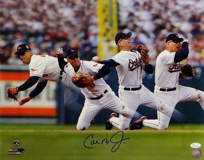 Cal Ripken Jr Autographed Orioles 16x20 Multi Exposure PF Photo- JSA W Auth *Blk