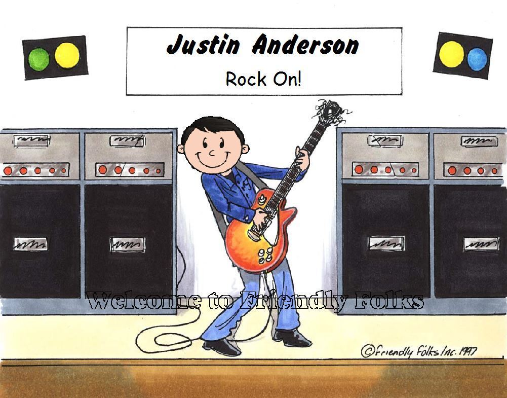 Small Personalized Guitar Picture - Makes A Great Gift  - $8.50