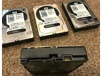 2 x WD Black 4TB performance Internal Hard Drives (WD4003FZEX). Grade A condition.
