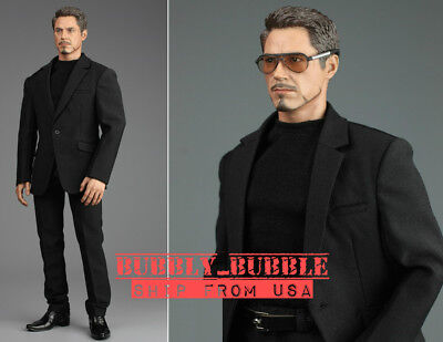 1/6 Men Business Suit Set with Shoes Sunglasses For 12