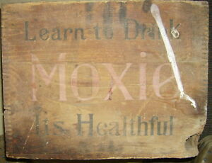 Vintage Moxie Nerve Food Crate Soda Pop New England Boston Kingston Kingston Area image 3