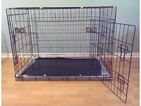 """Dog Crate / Puppy Cage 42"""" Extra Large ( XL ) Black With Metal Tray NEW"""