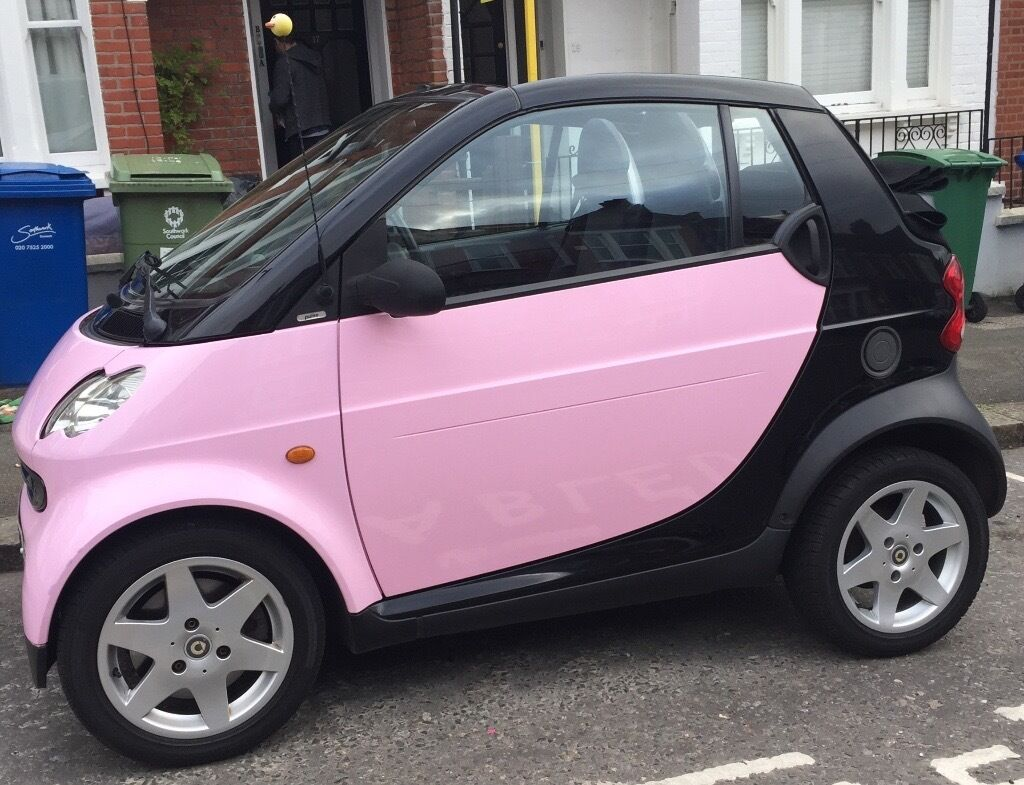 Baby Pink Smart Car Pulse 61 Cabrio Convertible Semi Auto