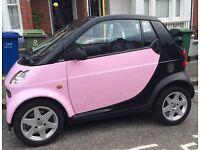 Baby Pink Smart Car Pulse 61 Cabrio/Convertible Semi-Auto