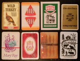 8 Packs Of 'Promotional' Playing Cards (new)