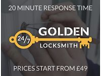 East London Locksmith | Prices From £49 | 20 Minute Response Time | Fully Qualified & Insured