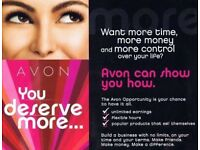 Looking for a job? Extra income? Apply today to become an Avon representative !