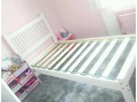Single Bed White Wood - Leeds £55