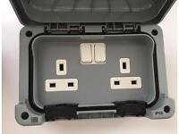 Masterseal outdoor double socket IP56