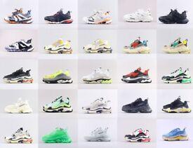 Balenciaga Triple S and mesh sneakers