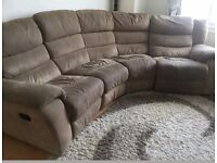 Sofa Fabric 4 Seater Manual Recliner Sofa by DFS