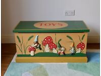 Hand-painted Children's Toy Chest