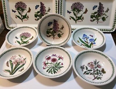 6 Portmeirion Botanic Garden Pasta Bowls  NWT England