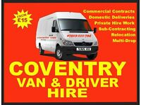 Coventry Van & Driver Hire ...(Man with a Van Service)