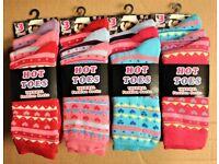 18 Dozen 3 Pair Pack Kids Ladies Assorted Colours Thermal Cotton Rich Socks Size 4-6 Stock Job Lot