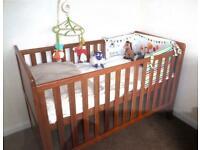Cot bed / wardrobe / changing table - Nursery Furniture Oak