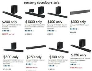 Samsung Soundbar Super Sale - Sound Bar w Subwoofer - N450 N550 N650 MS650 KM36 NW700 N850