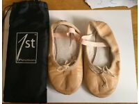 Ballet shoes kids size 10 pink with case
