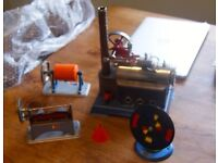 Steam engine Wilesco D14 with some accessories