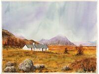 Blackrock Cottage, Rannoch Moor. Original watercolour