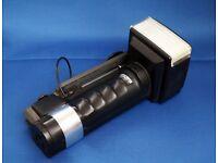 Metz 45 CT1 Hammerhead flash gun.