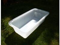 Large dog bath or plastic plasterers mixing bath white 165 Litre (Large)