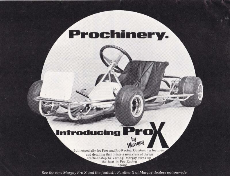 1977 Margay Pro X Go Kart Ad/