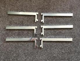 Shelf brackets chrome