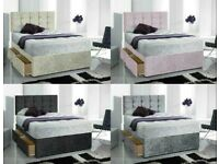 🚚💨iNSTANT Delivery Premium Slate Divan Bed Base and Matching Designer Headboard