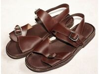 Men's brown leather sandals - UK Size 12 - Great condition