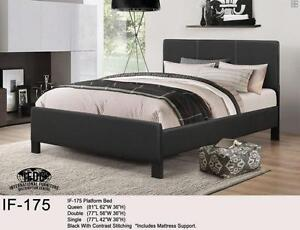 Deluxe Queen Platform Bed with Mattress - FREE DELIVERY
