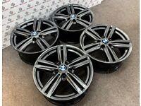 "GENUINE BMW 1/2 SERIES 18"" ALLOY WHEELS - 5 x 120 - SHADOW CHROME FINISH"