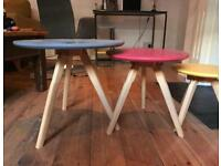 Multi Coloured end tables or stools