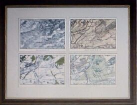 old clipstone forest maps framed