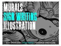 ✅ MURALS & SIGN WRITING | ILLUSTRATOR | INTERIOR & EXTERIOR DESIGN | SPRAY PAINTING