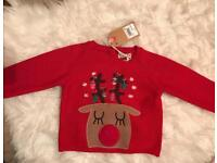 New with tags baby girls light up Christmas jumper 3-6 Months