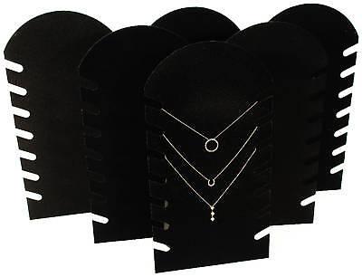 6 Black 14 Velvet Necklace Pendant Jewelry Displays