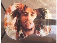 BOB MARLEY COOL AMAZING GUITAR FULL SIZE CLASSICAL GUITAR