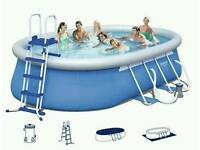 "Bestway 18ft x 12ft x 48"" pro swimming pool and intex saltwater system"