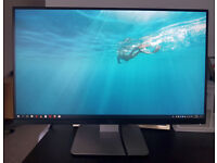 Dell U2715H 27 inch LCD Monitor Black 16:9, QHD 2560 x 1440, 8ms, HDMI