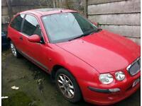 Rover 25 2002 red 3 door breaking