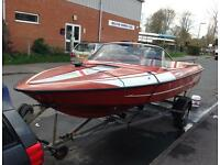 Speed boat fletcher bravo arrow sport 150 with trailer