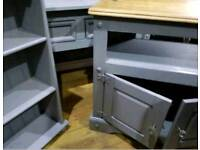 £160 for all 3 piece heavy solid wood set - tv unit,display unit & console table excon
