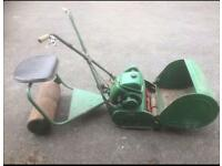 "Vintage Ransomes 18"" Marquis MK4 ride on mower."